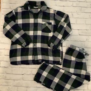 Nordstrom Men's Flannel Peacoat check pajamas